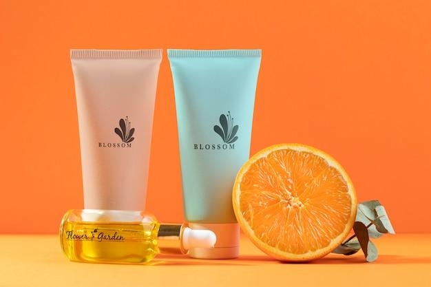 Biologische sinaasappelsap cosmetische producten