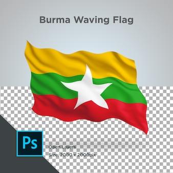 Birma vlag wave transparant psd