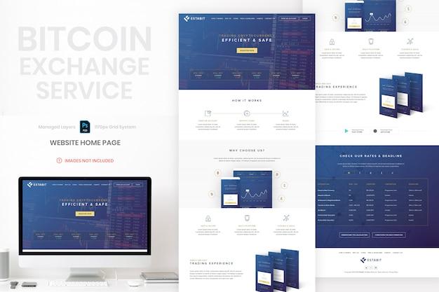 Bitcoin website startpagina sjabloon