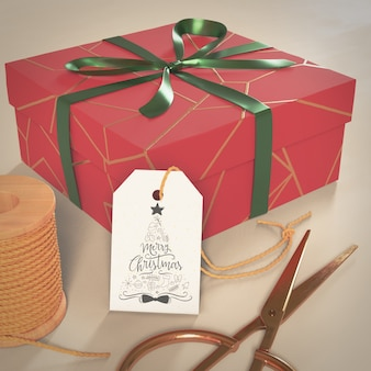 Bix box regalo envuelto para navidad