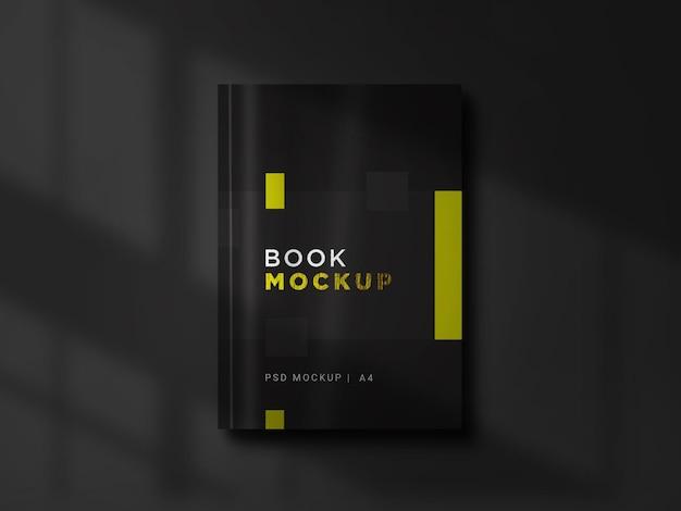 Black book cover mockup ontwerpweergave