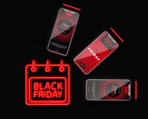 Black friday-aanbieding voor elektronische apparaten
