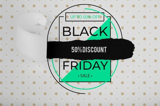 Black friday-concept met speciale aanbieding