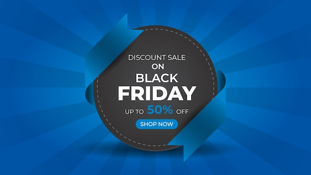 Black friday fashion sale web banner ontwerpsjabloon