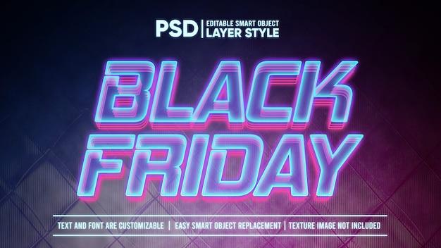 Black friday futuristisch holografisch licht smart object layer-effect