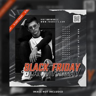 Black friday instagram social media postsjabloon