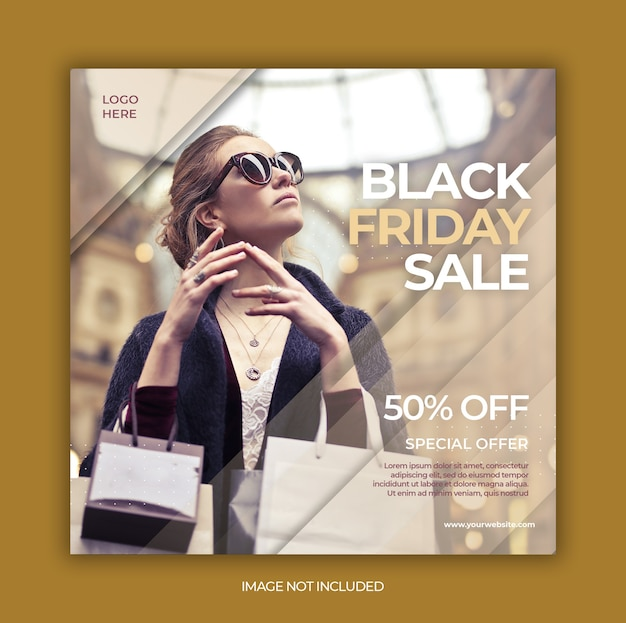 Black friday instagram-verhaal of sjabloon