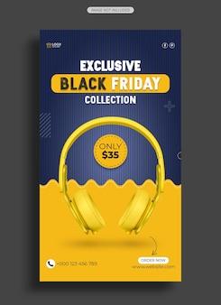 Black friday koptelefoon verkoop instagram-verhaal