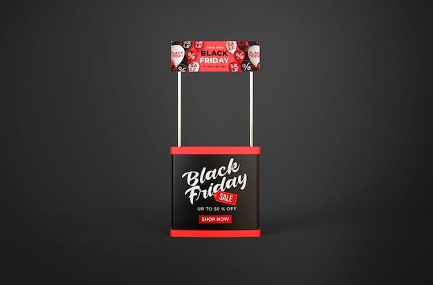 Black friday-mockup op standpromo of evenementenbureau