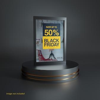 Black friday poster mockup-scène
