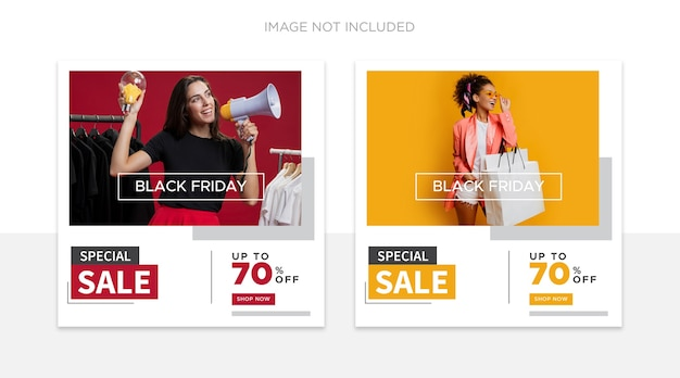 Black friday-postsjabloon voor sociale media