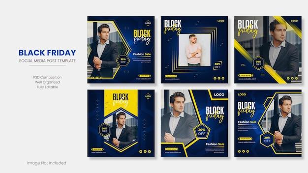 Black friday sale social media banner design bundelsjabloon