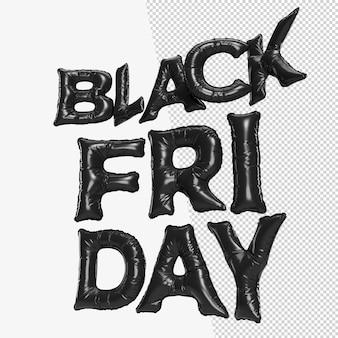 Black friday sale zwarte typografie. sjabloon voor promotie-, reclame-, web-, sociale en mode-advertenties. 3d-rendering