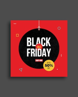 Black friday social media banner sjabloonontwerp
