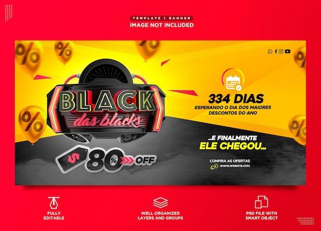 Black friday sociale media instagram-sjabloon zwarte november productpromotie