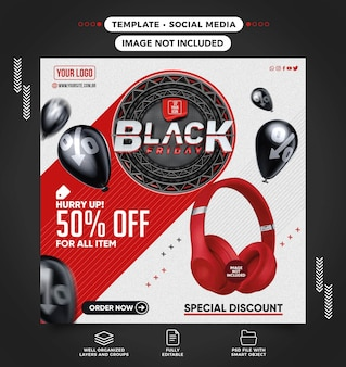 Black friday speciale aanbieding social media banner