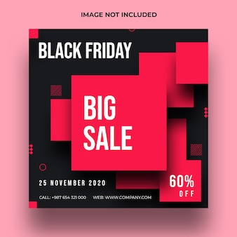 Black friday speciale verkoop sociale media post en webbannermalplaatje