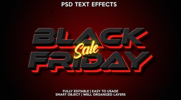 Black friday-teksteffectsjabloon
