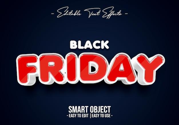 Black friday-tekststijleffect