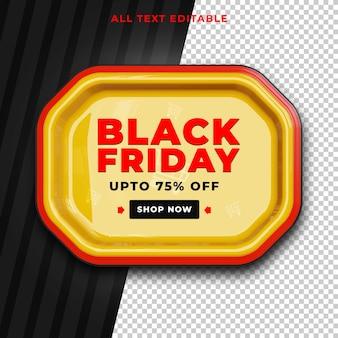 Black friday tot 75 procent korting op bewerkbare tekst psd
