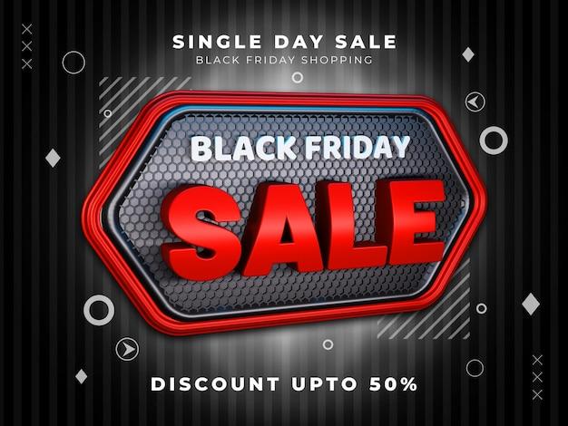 Black friday-uitverkoopkorting tot 50 procent psd-sjabloon