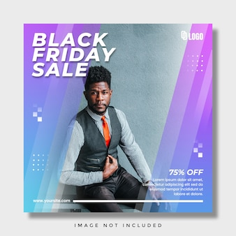 Black friday-verkoop sociale media instagram-post