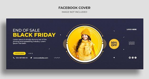 Black friday-verkoop sociale media omslag en websjabloon voor spandoek