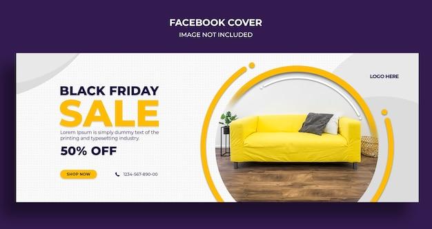 Black friday-verkoop sociale media omslag en websjabloon voor spandoek Premium Psd