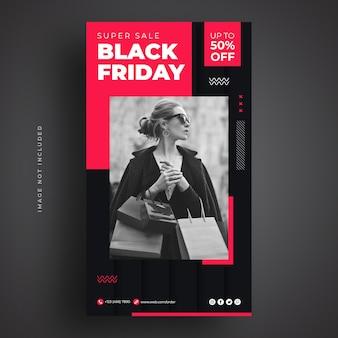 Black friday-verkoop sociale media-sjabloon voor spandoek