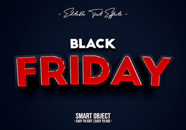 Black friday-verkoop tekststijleffect
