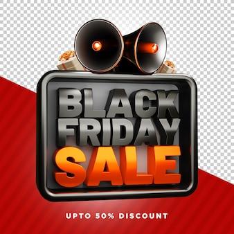 Black friday verkoop vierkant psd-sjabloon