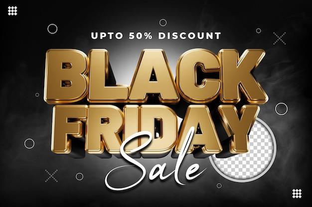 Black friday-verkoopsjabloon psd