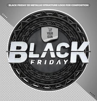 Black friday zwart-wit logo om uw themapictogram in te voegen