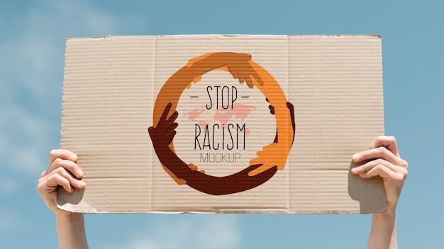 Black lives matter concept mock-up