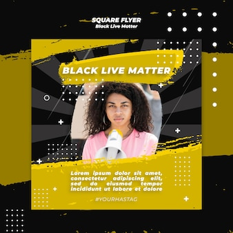 Black lives matter flyer