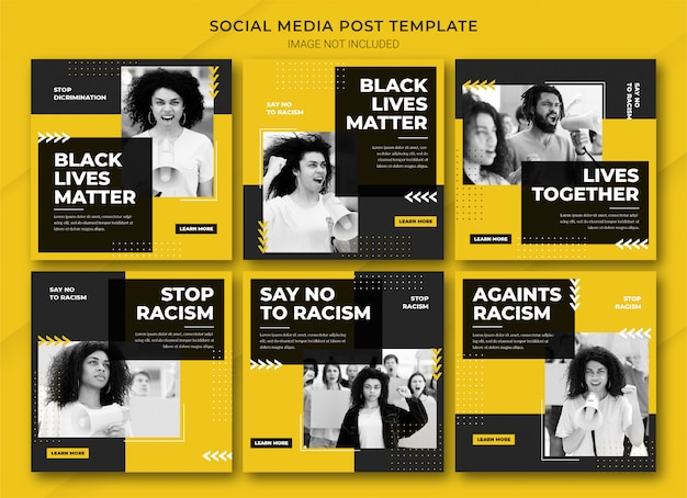 Black lives matter instagram postbundelsjabloon
