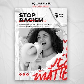 Black lives matter poster met foto