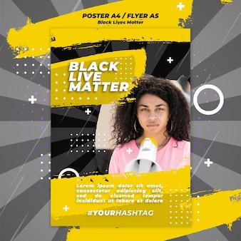 Black lives matter poster sjabloon