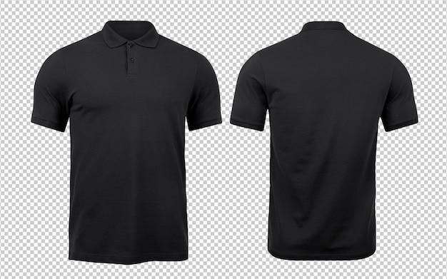 Black polo mockup voor- en achterkant gebruikt als ontwerpsjabloon.