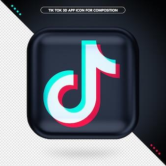 Black tik tok 3d app