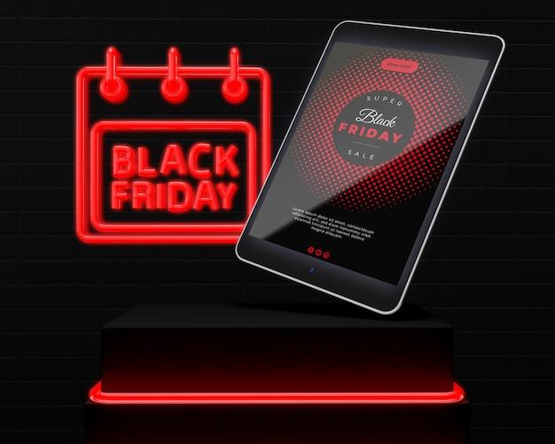 Black vrijdag promoties mock-up