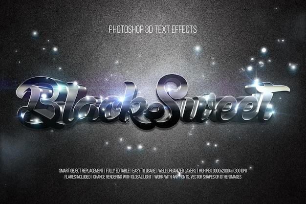 Blacksweet 3d-teksteffecten