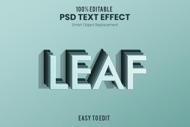 Blad3d teksteffect