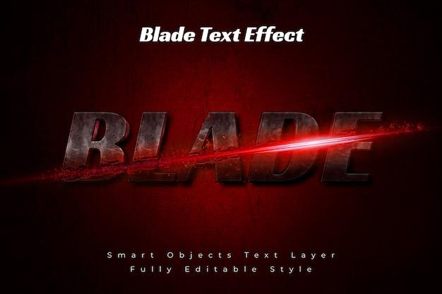 Blade text effect