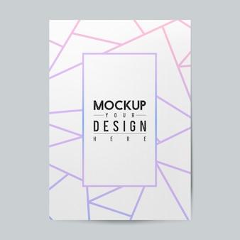 Blanco papier brochure sjabloon mockup