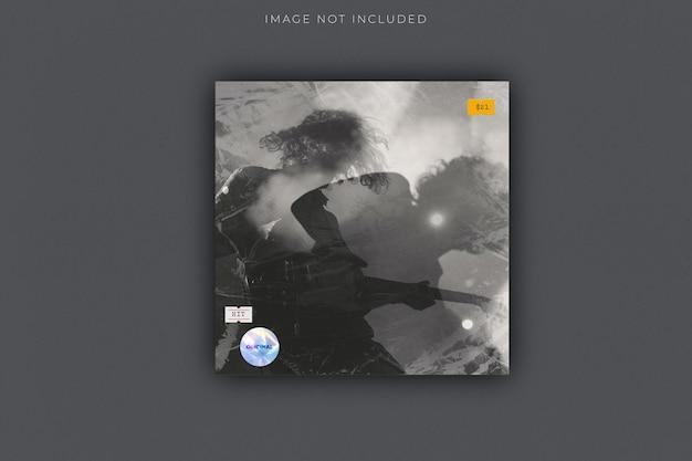 Blanco vierkant cd record cover pakket envelop sjabloon mock up met