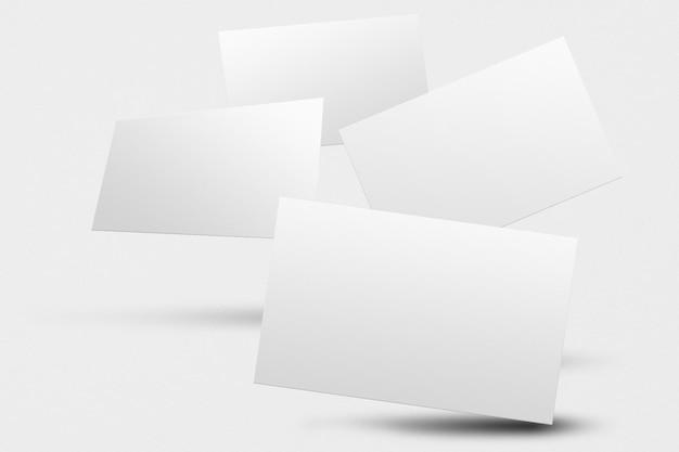 Blanco visitekaartjes mockup