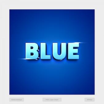 Blauw 3d tekststijleffect Premium Psd