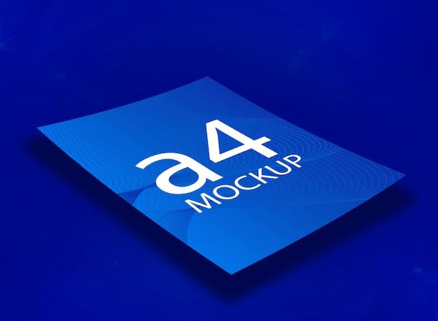 Blauw a4 mockup