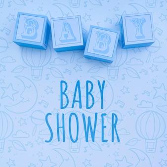 Blauw baby douches decor